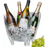 Party italhűtő acryl italtartó 4 üvegnek