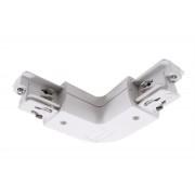 3-Phasen Schienen L-Verbinder 90 Grad quadratisch in weiß Erde rechts aus Kunststoff 555671
