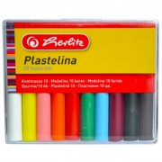 Plastilina 10 culori/set, HERLITZ Economic