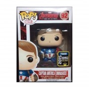 Funko Pop Captain America Unmasked Summer Convention Exclusivo Marvel