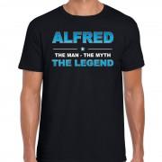 Bellatio Decorations Naam cadeau t-shirt Alfred - the legend zwart voor heren