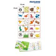 Párosító puzzle - asszociációs játék, Iskolai foglalkoztató készlet, Miniland