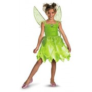 Disguise Girls Disney Fairies Tink and The Fairy Rescue Classic Costume, Un Solo Color, Mediano/7-8