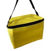 Koeltas voor 6 blikjes, gele koeltas, warmhoud tas