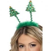 Merkloos Kerstboom diadeem