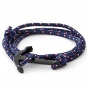 Tailor Toki Bracelet L'ancre noir à cordon bleu marine
