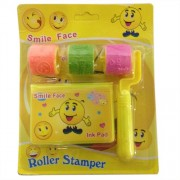 Funcart Smiley face roller stamp pad ( 3 designs in one)