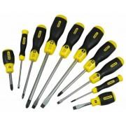 STANLEY 2-65-005 CushionGrip 10 részes csavarhúzó készlet Ph+lapos