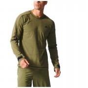 adidas Men's Workout Training Sweatshirt - Green - XL - Green