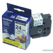 BROTHER TZ Tape, 24mm Black on White, Laminated, 8m lenght, for P-Touch (TZE251)