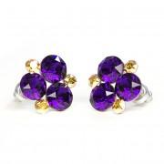 SWAROVSKI® kristályos nemesacél fülbevaló - Velvet