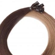 Rapunzel® Extensions Naturali Nail Hair Premium Liscio O2.2/7.3 Brown Ash Ombre 40 cm
