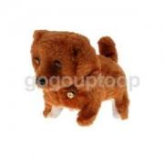 Alcoa Prime 1pc Walking Barking Puppy Dog with Light Up Eyes Baby Kids Walking Toy Brown