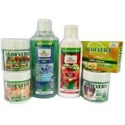 Aryanshakti Aloevera Combo (Aloevera hair Gel Body Lotion Scrub Shower Gel Face Gel Soap)