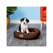 American Kennel Club Casablanca Bolster Cat & Dog Bed, Dark Brown