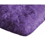 Covor Plusat 160x230 pentru Interior cu Izolare Termica in Partea Inferioara, Culoare Mov