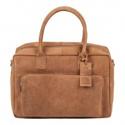 Burkely Laptoptas Burkely Mitch Vintage Businessbag Taupe 14 inch