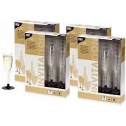 Plastic champagne glazen 80 stuks - herbruikbaar