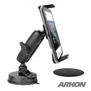 Arkon Tablet Windshield Mount - поставка за таблото или стъклото на кола за таблети (черна)