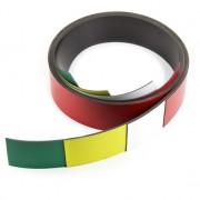 Banda magnetica alba pentru etichetare si taiere, 40 mm latime