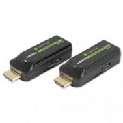 Techly Extender HDMI compatto Full HD su cavo Cat.6/6A/7 max 40m