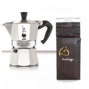SET ESPRESSO MOKA BIALETTI + Cafea 250gr