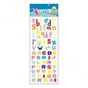Merkloos Gekleurde alfabet stickervelletje agenda