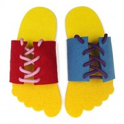 Alcoa Prime 1 Pair Learn To Lace Tie Shoes Practice Lacing Learning Shoe Children's Shoelace