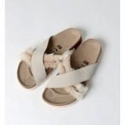 DAYTONA/デイトナ スエードレザー ファー オフホワイト(WOMENS)【ビルケンシュトック/BIRKENSTOCK レディス サンダル ホワイト ルミネ LUMINE】