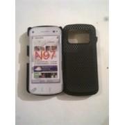 Черен твърд силиконов гръб за Nokia N97