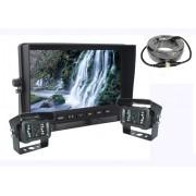 "Parkovací auto set - AHD 7"" LCD monitor + 2x kamera s 18 IR LED"