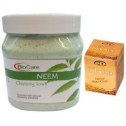 BIOCARE Neem Cleansing Scrub 500 ML Pink Root Golden Bleach Pack of 2