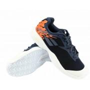 Juniorská tenisová obuv Babolat Jet Clay JR White/Blue EUR 39.0 / UK 6.0 (BABOLAT)