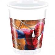Set pahare plastic Spiderman Amazing