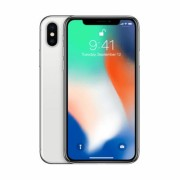 Begagnad iPhone X 256GB Silver Olåst i topp skick Klass A