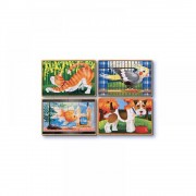 Set 4 puzzle lemn in cutie Animale de companie, Melissa and Doug, MD3790, 20 x 15 x 6.5 cm