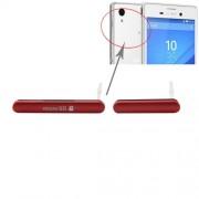 iPartsBuy for Sony Xperia M4 Aqua Single SIM Version Anti-Dust Plug (Micro SD Card Port Dust Plug + USB Port Dust Plug)(Red)