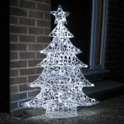 Kültéri akril karácsonyfa 1 m hideg fehér