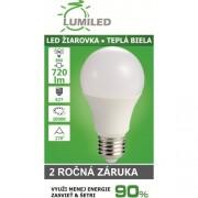 LED ŽIAROVKA E27 8W SMD2835 TEPLÁ BIELA