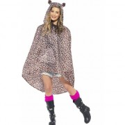 Smiffys Party regenponcho luipaard