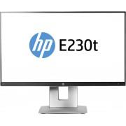 HP EliteDisplay E230t 23'' 1920 x 1080Pixels Multi-touch Tafel Zwart, Zilver touch screen-monitor