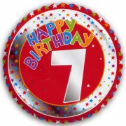 7e verjaardag helium ballon