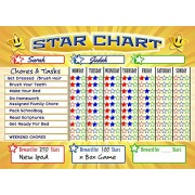 Bigtime Magnetic Behavior Star Reward Chore Chart for One or Multiple Kids Toddlers or Teens Premium Dry Erase Surface Charts Have Full Magnet Back for Fridge Helps Teach Responsibilty