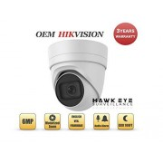 HAWK EYE SURVEILLANCE Cámara IP de Seguridad PoE de 6 MP, Compatible con Hikvision Performance Series DS-2CD2H55FWD-IZS Varifocal con Lente de Zoom motorizado de 2,8-12 mm