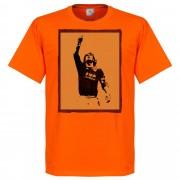 Retake Totti Silhouette T-shirt - orange - S