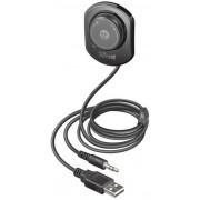 Car Kit Trust Lega 2-in-1, Bluetooth (Negru)