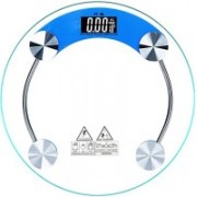 GOCART Digital Personal Bathroom Glass Scale with Large Display for Your Personal Body Weight, Fitness or Health Weighing Scale(Blue)
