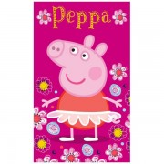 Peppa malac törölköző kéztörlő pink 30x50cm