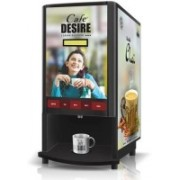 Cafe DESIRE COFFEE TEA VENDING MACHINE (2 LANE) 4 Cups Coffee Maker(Black)