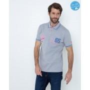 "Gentlemen Selection Poloshirt ""Adventure"" hellgraumelange/rauchblau male 52"
